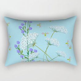 Kentucky Wildflowers and Pretty Bugs Rectangular Pillow