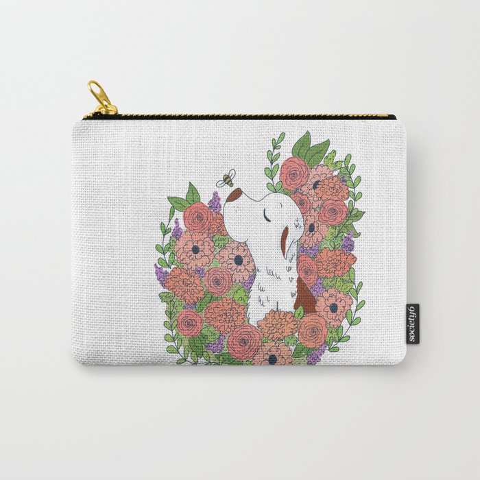 Marti Flower Carry-All Pouch