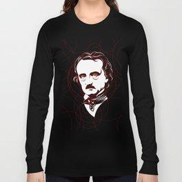 Edgar Allan Poe Circles Portrait Long Sleeve T-shirt
