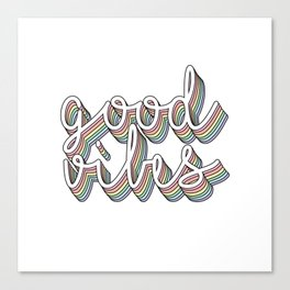 good vibes pastel Canvas Print