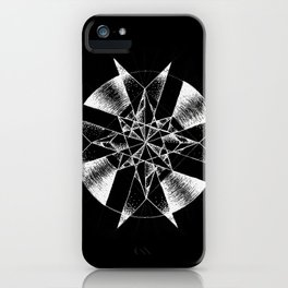Inverted Crystalline Compass iPhone Case