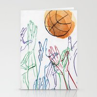basketball Stationery Cards featuring Basketball by alrightmike
