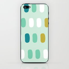Aqua pop spots iPhone Skin
