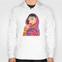 hindu Hoodies featuring Hindu Woman by IlyLilyArt