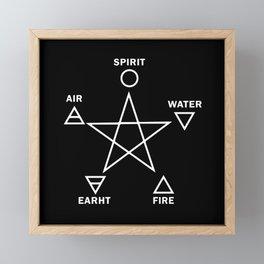 Five Elements Star Framed Mini Art Print