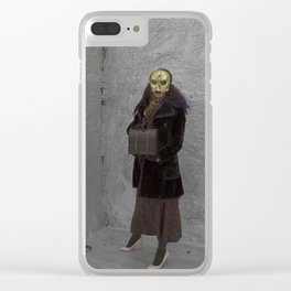 Wearing My Skeleton on My Face, No. 8 Clear iPhone Case