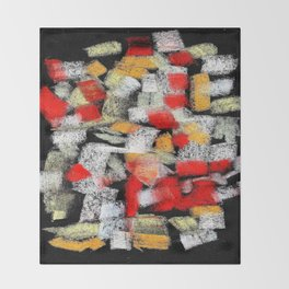 Abstract multicolor mosaics Throw Blanket