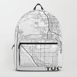 Minimal City Maps - Map Of Tucson, Arizona, United States Backpack