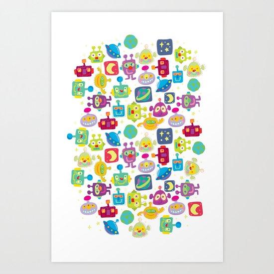 boy-bots Art Print