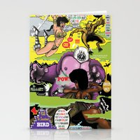 actor Stationery Cards featuring Space Chick & Nympho: Vampire Warrior Party Girl Comix #2 - Comic Book Cover by Tex Watt