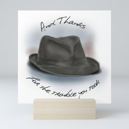 Hat for Leonard Cohen Mini Art Print