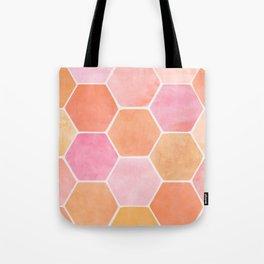 Desert Mood Hexagon Print Tote Bag
