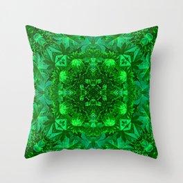 Archangel Raphael Healing Mandala Throw Pillow