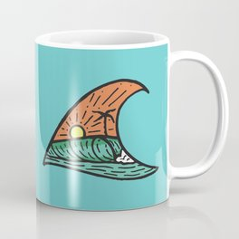 Wave in a Wave - Teal Coffee Mug