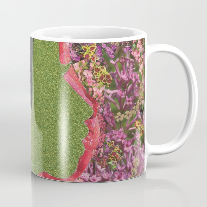 Black Hair Lady Coffee Mug