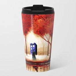 Tardis Cloud - Red Travel Mug