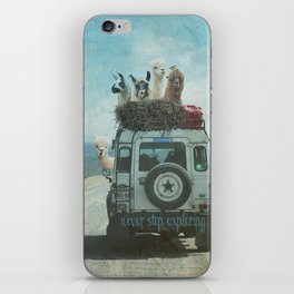ALPACA WANDERLUST II SUMMER EDITION iPhone Skin