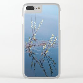 Fluffy catkins spring buds Clear iPhone Case