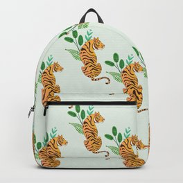 Tiger and leaves Backpack