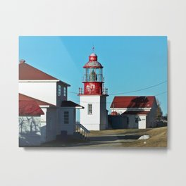 Cap-Chat Lighthouse in Spring Metal Print