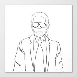 Karl Lagerfeld portrait Canvas Print