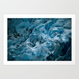 Blue Ice Glacier in Norway - Landscape Photography Art Print