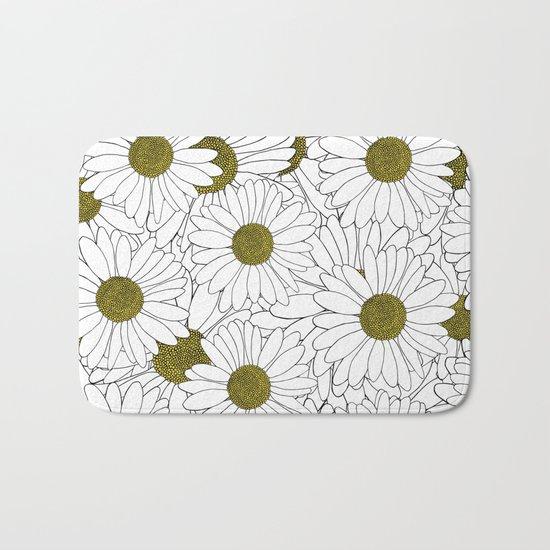 Daisy Yellow Bath Mat