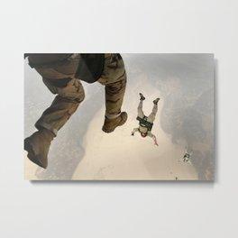 Parachuting sky 3 Metal Print