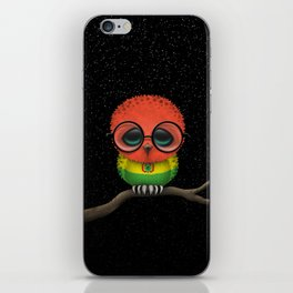 Baby Owl with Glasses and Bolivian Flag iPhone Skin