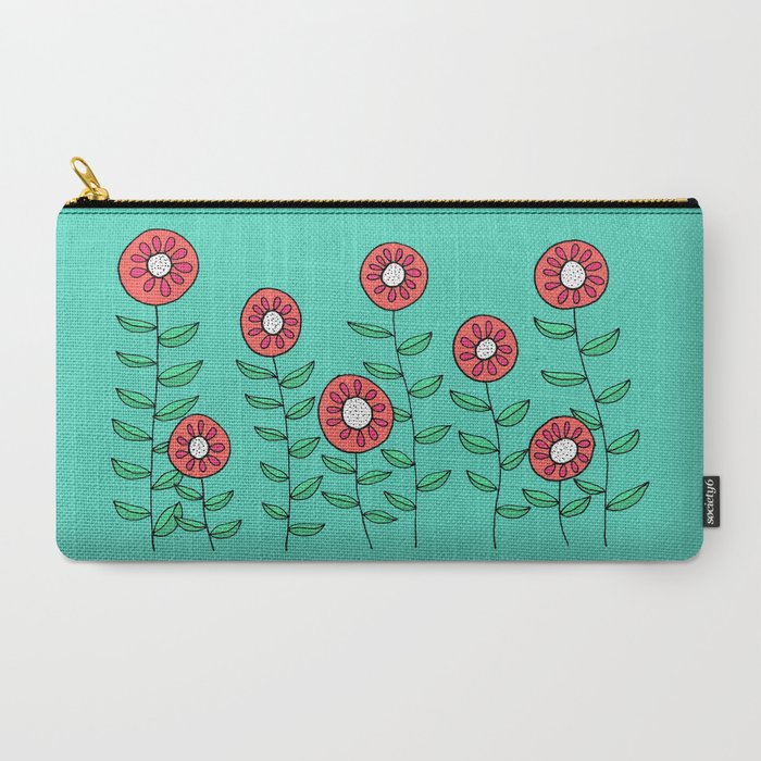 Colorful Garden of Flowers Carry-All Pouch