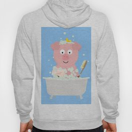 Pig in Bathtube with bubbles Hoody