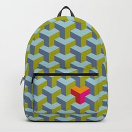 Be yourself - geomtric op art pattern Backpack