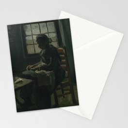 Woman Sewing Stationery Cards