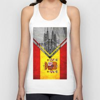 spain Tank Tops featuring Flags - Spain by Ale Ibanez