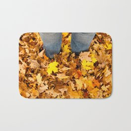 Stand in the Leaves Bath Mat