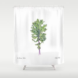 Red Russian Kale Shower Curtain