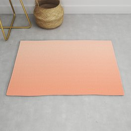 Canteloupe & Peach light  soft pastel colors ombre abstract pattern   Rug
