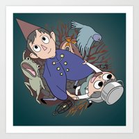 over the garden wall Art Prints featuring Over the garden wall by podborski