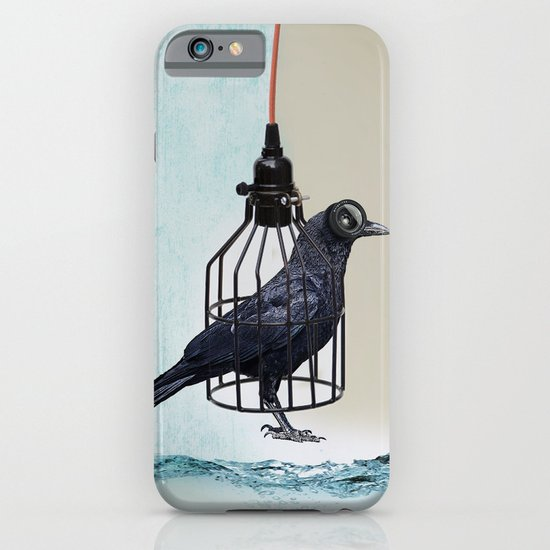bird in the wire iPhone & iPod Case