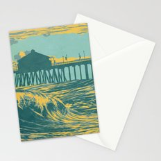 Vintage Huntington Beach Poster Stationery Cards
