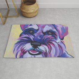 Schnauzer Pop Art Pet Portrait Rug