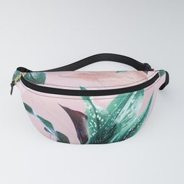 Tropical Floral on Pink. Odessa Calla Lily Fanny Pack