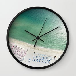 Helicopter View of Miami Beach Wall Clock