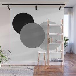 Gray White Black : Mod Circles Wall Mural