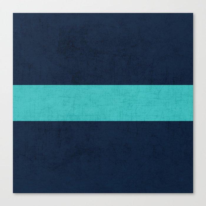 classic - navy and aqua Canvas Print