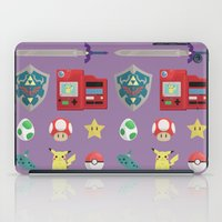 video games iPad Cases featuring video games by Black