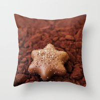 chocolate Throw Pillows featuring Chocolate by LebensART Photography