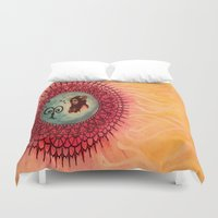 aries Duvet Covers featuring Aries by Jen Hallbrown