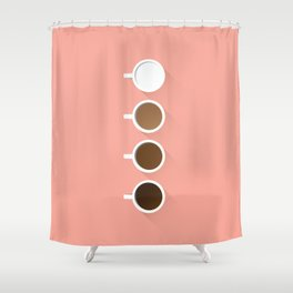 Coffee + Simplicity Shower Curtain