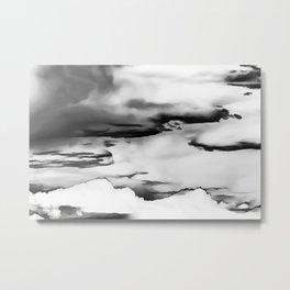 cloudy burning sky reacbwi Metal Print